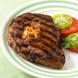Weber Gas Grill Recipe Rib Eye Steaks with Chipotle Butter
